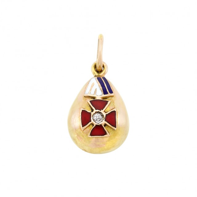 Russian Gold And Enamel Pendant Egg Doyle Auction House
