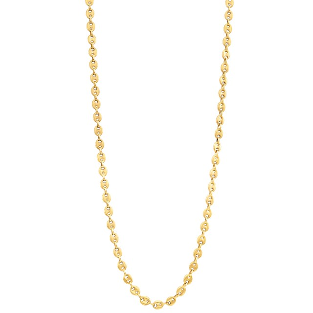 Long Gold Nautical Link Chain Necklace