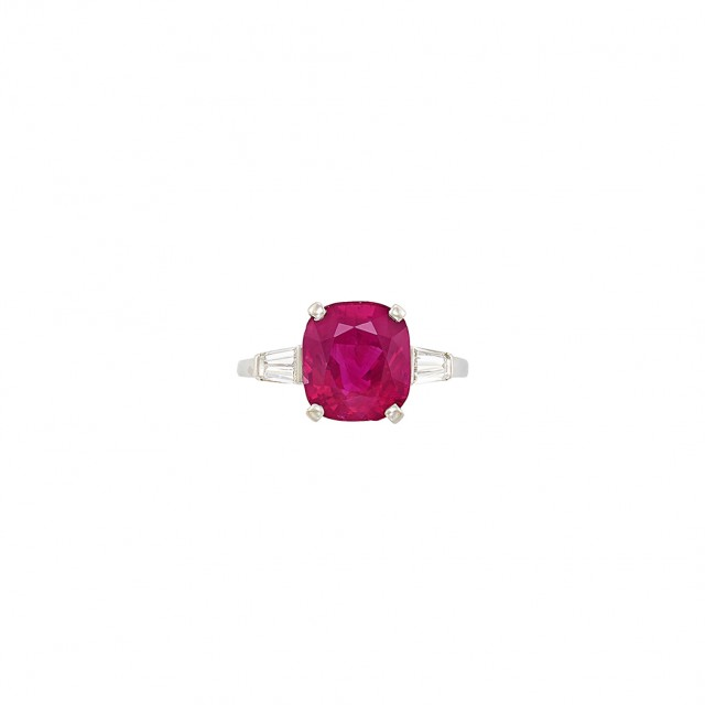 Platinum, Ruby and Diamond Ring, Raymond Yard