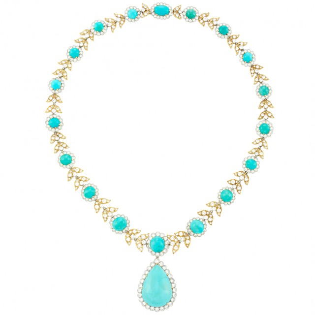 Gold, Platinum, Turquoise and Diamond Necklace, Van Cleef & Arpels