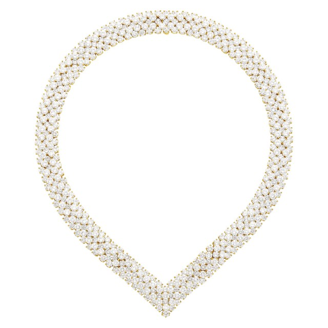 Van Cleef & Arpels Gold and Diamond Necklace/Bracelets Combination