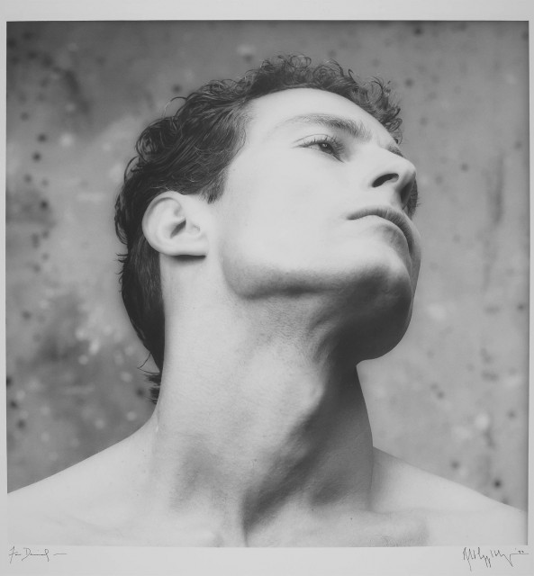 MAPPLETHORPE, ROBERT (1946-1989)  [Man, head averted, for an Aramis ad campaign].