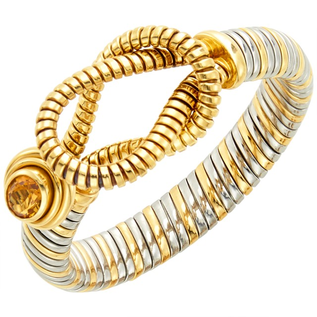 Cartier Gold, Stainless Steel and Citrine 'Hercules Knot' Bracelet
