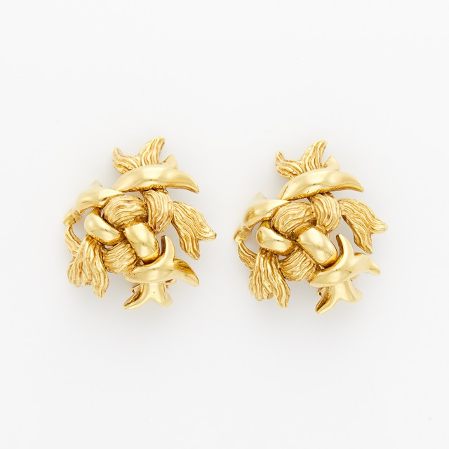 Gold Knot Earrings, Tiffany and Co.