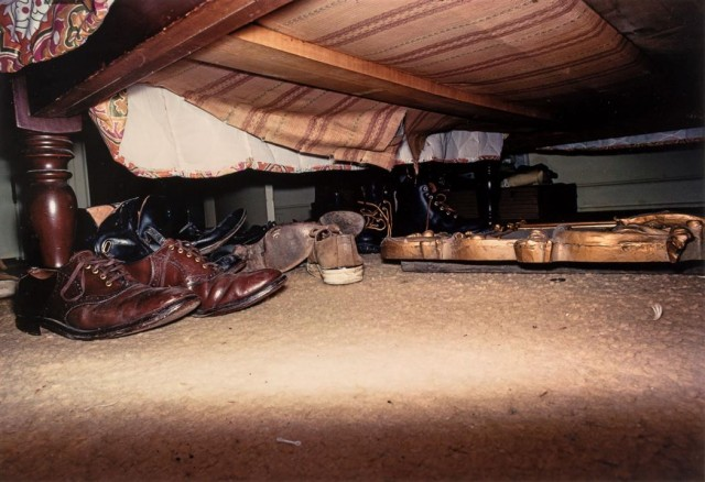 EGGLESTON, WILLIAM (b. 1939)  Untitled [Shoes under Bed]