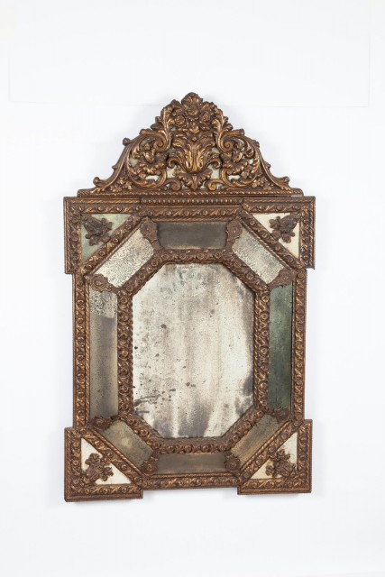 Continental Baroque Style Giltwood Mirror
