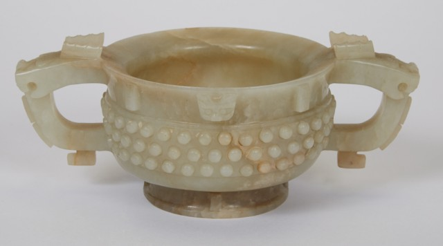 Chinese Archaic-Form Jade Cup