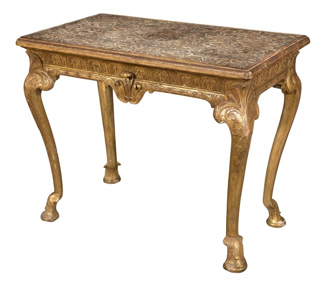 George I Gilt-Gesso Side Table attributed to James Moore
