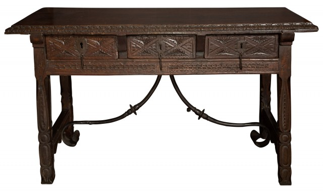 Continental Walnut Trestle Table