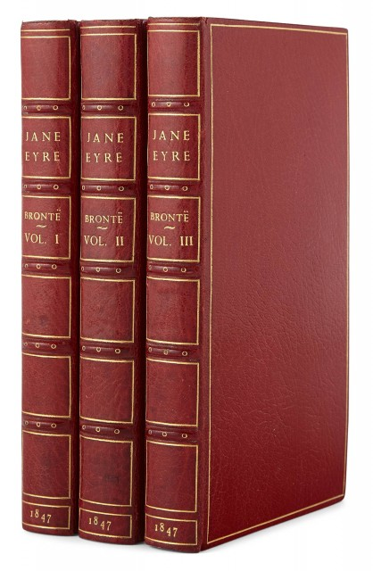 BRONTE, CHARLOTTE  Jane Eyre. An Autobiography. Edited by Currer Bell