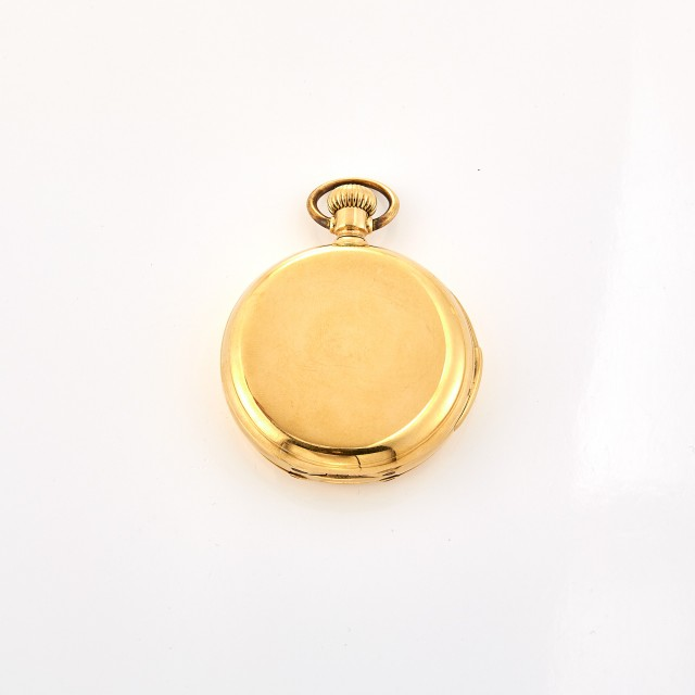 Gold Hunting Case Pocket Watch, Albert H. Potter & Co.
