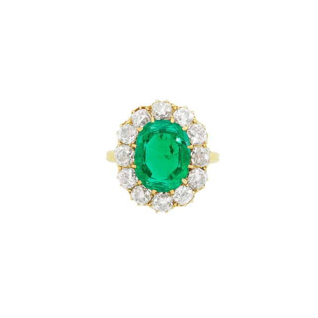 Antique Gold, Emerald and Diamond Ring, Tiffany & Co.