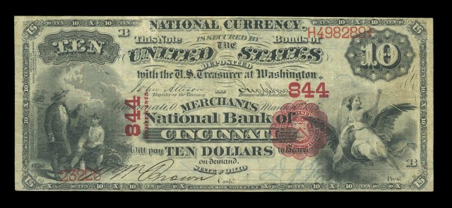 United States $10 National Bank Note 1st Charter, Fr. 416