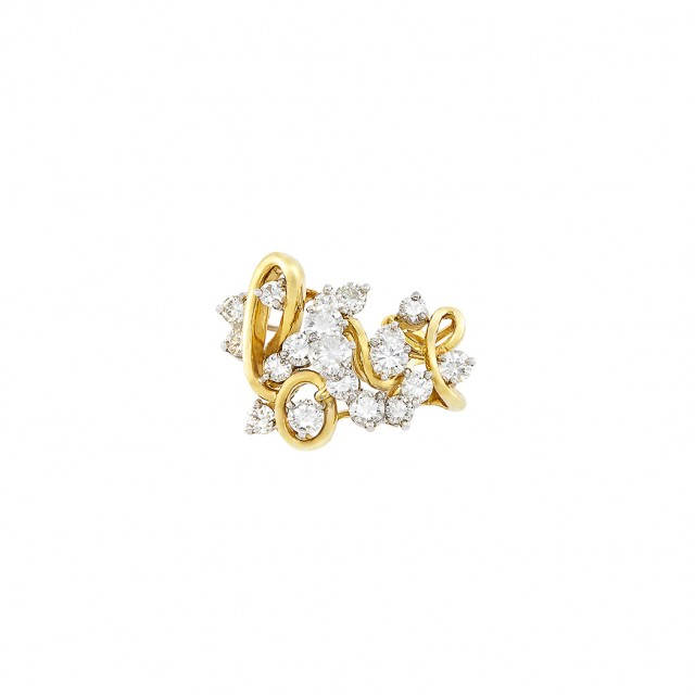Gold Platinum And Diamond Love Ring By Bailey Banks Biddle Doyle Auction House