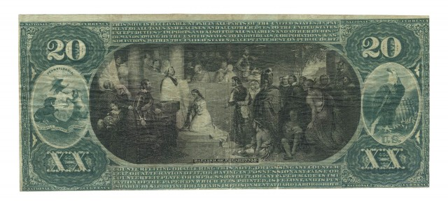 United States $20 National Bank Note 1st Charter, Fr. 434