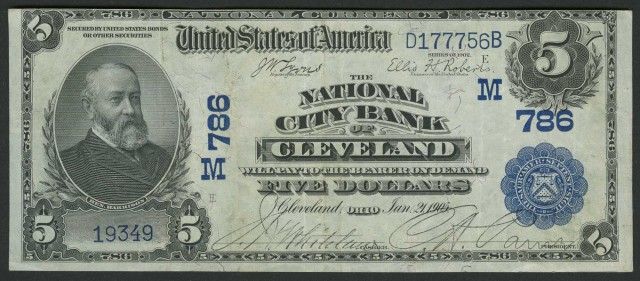 United States $5 National Bank Note, Series 2 Date Back, Fr. 590