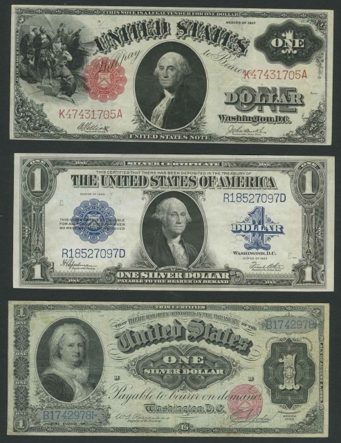 United States Large Size $1 Bank Note Group