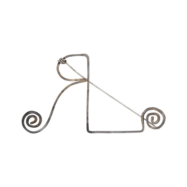 Alexander Calder Silver and Steel 'RL' Pin