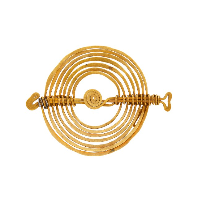 Alexander Calder Brass and Steel Spiral Pin