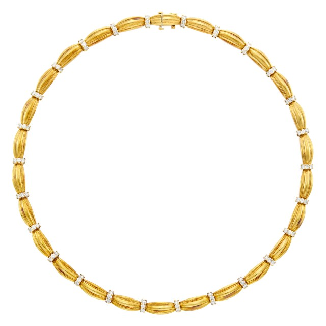 Tiffany and Co. Gold and Diamond Necklace