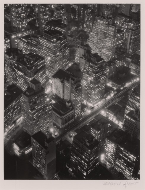 ABBOTT, BERENICE (1898-1991)  New York at Night