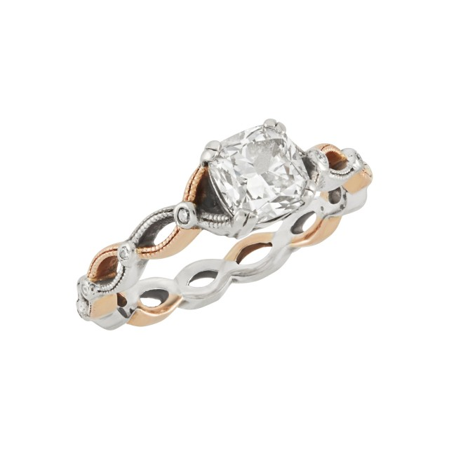 Two-Color Gold and Diamond Ring