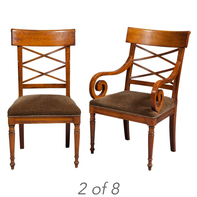 Groovy Set Of Eight Regency Style Beechwood Dining Chairs By Pabps2019 Chair Design Images Pabps2019Com
