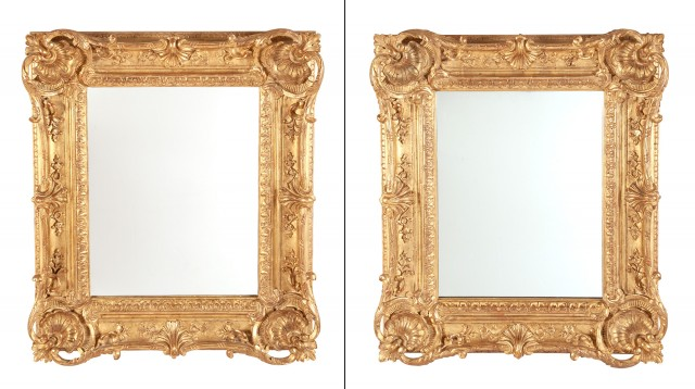 Pair of Louis XV Style Giltwood Mirrors