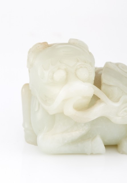 Chinese White Jade Figure of a Qilin