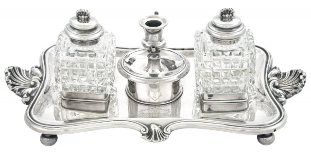 George IV Sterling Silver Inkstand