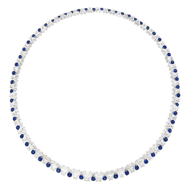 Platinum, Diamond and Sapphire Necklace, Van Cleef & Arpels, France
