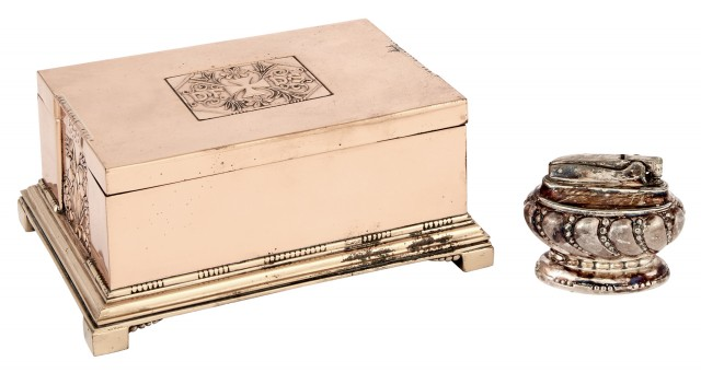 Georg Jensen Copper Cigar Box