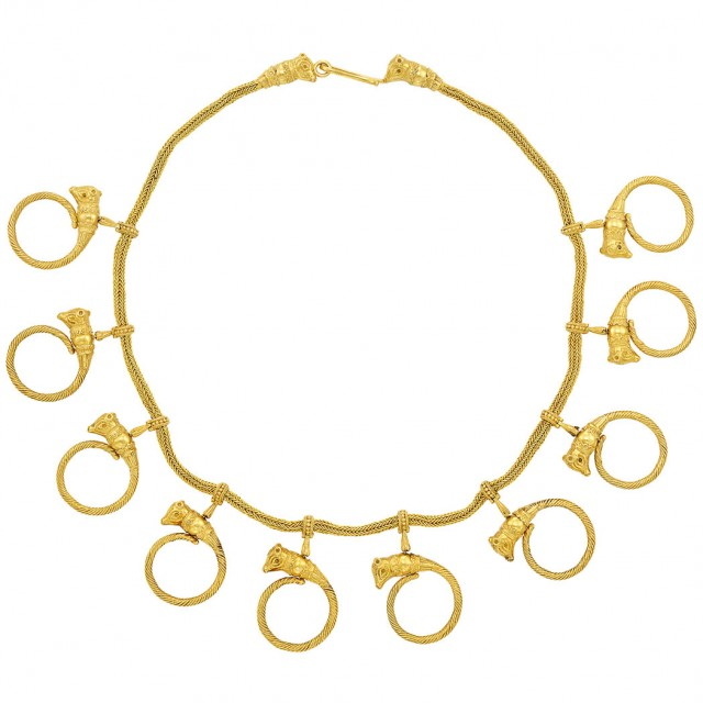 High Karat Gold Necklace, Ilias Lalaounis