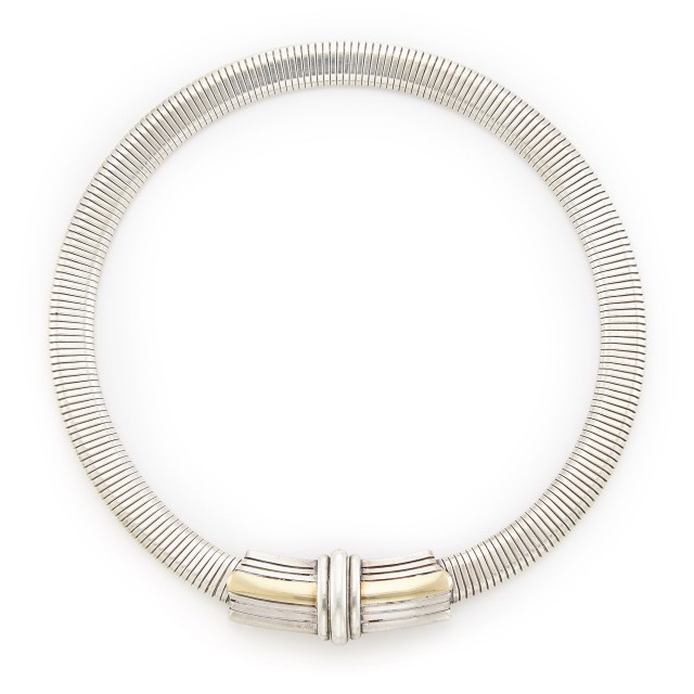 Silver and Gold Choker Necklace, Cartier