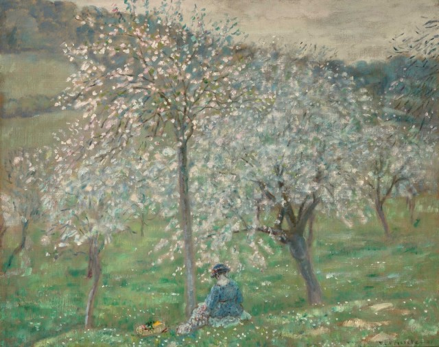 Frederick Carl Frieseke  American, 1874-1939  The Apple Orchard