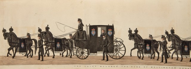 [PANORAMA]  [ALKEN, HENRY and SALA, GEORGE AUGUSTUS]. The Funeral Procession of Arthur Duke of Wellington.]