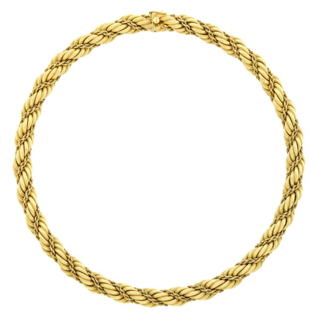 Tiffany and Co. Gold Rope-Twist Necklace