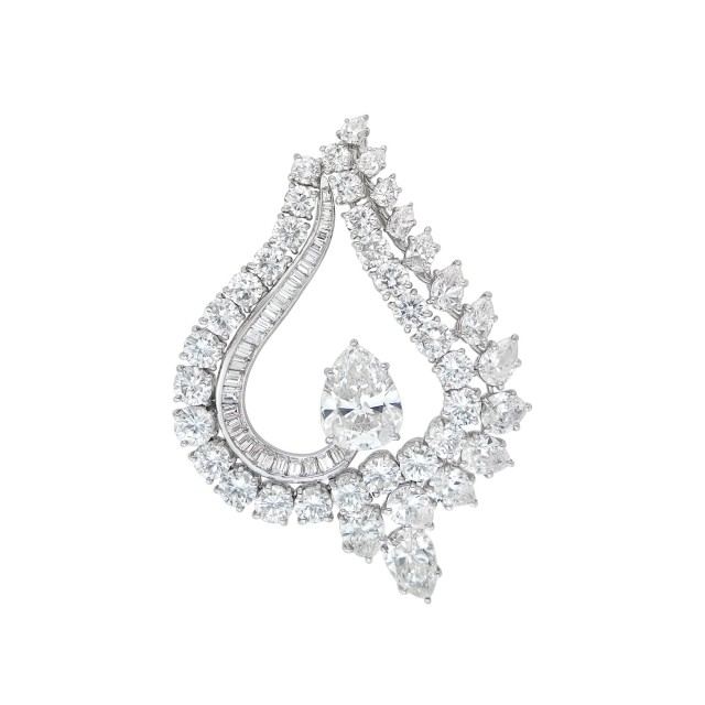 Platinum and Diamond Pendant-Brooch, Harry Winston