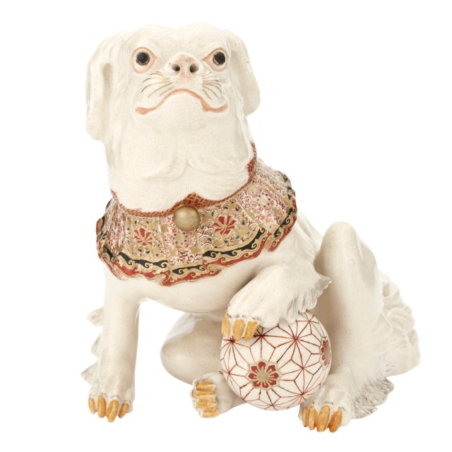Japanese Satsuma Figure of a Dog
