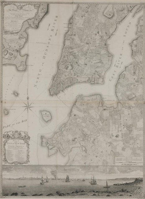 RATZER, BERNARD  Plan of the City of New York in North America, surveyed in the years 1766 & 1767.