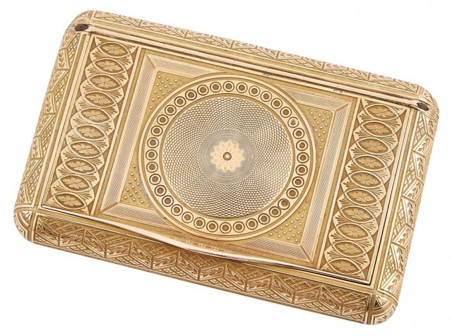 Russian Gold Snuff Box Doyle Auction House