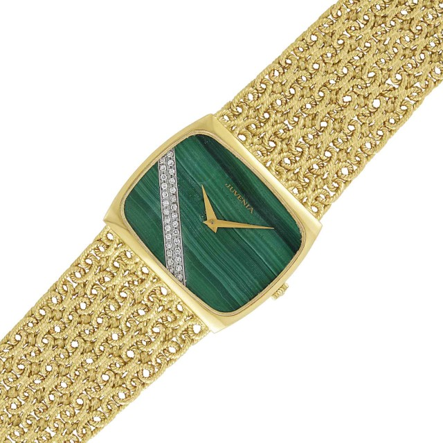 Gold, Malachite and Diamond Wristwatch, Juvenia