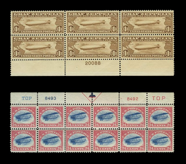 United States Air Mail Plate Blocks