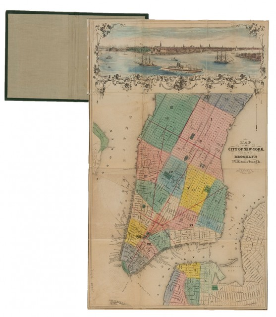[NEW YORK - MAPS, GUIDES and DIRECTORIES]  Group of antiquarian volumes, 1840-1856