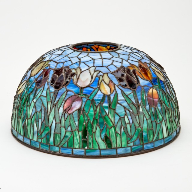 Bigelow, Kennard and Co. Leaded Glass Tulip Lamp Shade