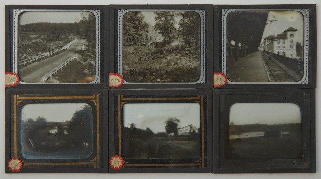 [BRONX RIVER PARKWAY]  Series of approximately ninety glass plate slides