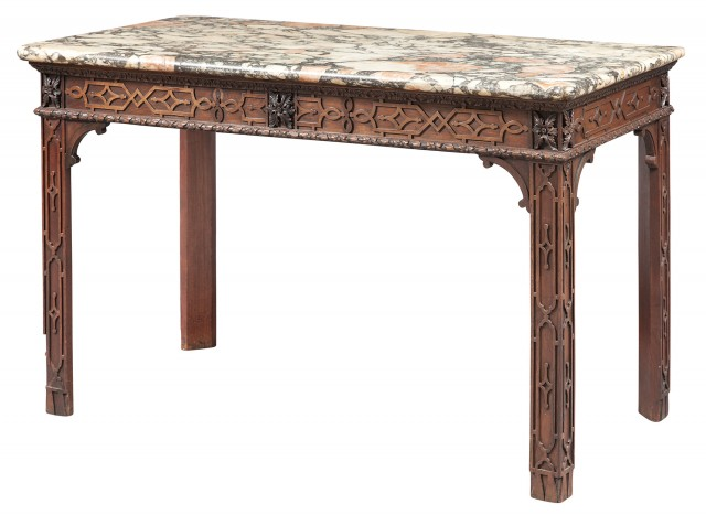 George II Style Mahogany Pier Table