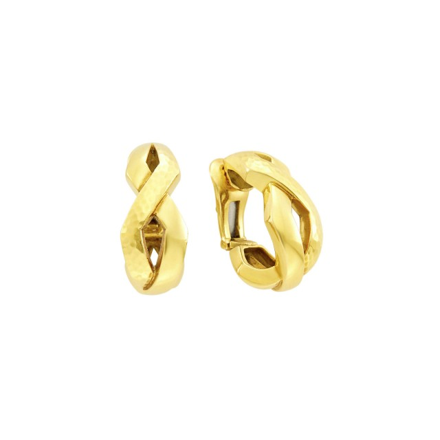 Andrew Clunn Pair of Gold Hoop Earclips