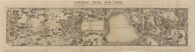 [CENTRAL PARK]  RICHARDS, T. ADDISON. Guide to The Central Park.