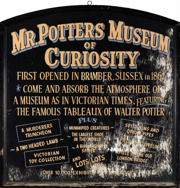 Walter Potter's Museum of Curiosities Sign